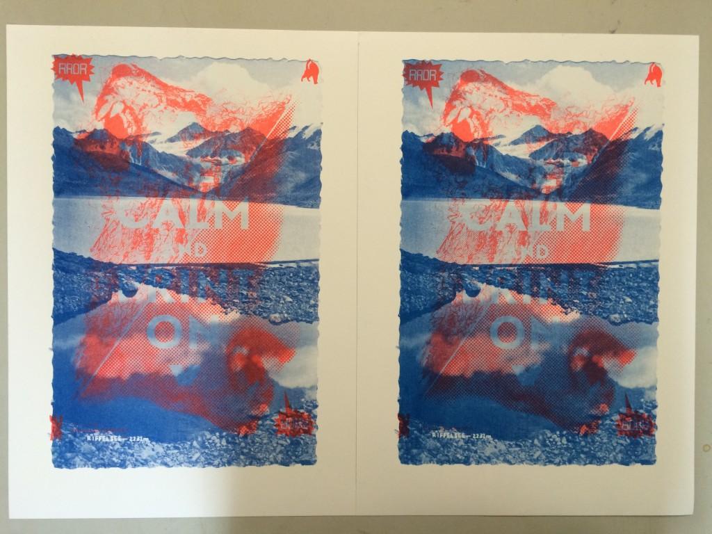 Links: oranje eerst, dan blauw; rechts: blauw eerst, dan oranje.